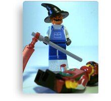 Scary Halloween Scarecrow Custom Minifig Canvas Print