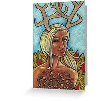 Deer Woman Greeting Card