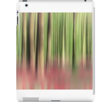 green and red abstract forest iPad Case/Skin