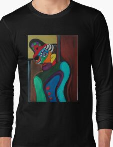 Man With Hat Long Sleeve T-Shirt