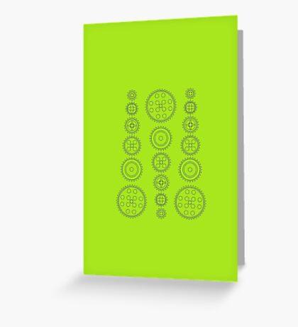 Cog Gear Wheels Pattern Greeting Card