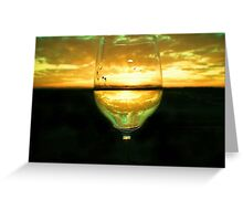 Wine Inversion Greeting Card