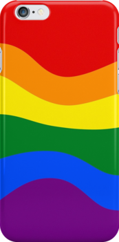 Smartphone Case - Rainbow Flag 7 by Mark Podger