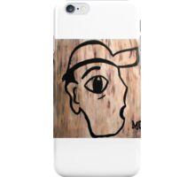 blue boy painting by Mo iPhone Case/Skin