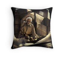 The Dhow Worker #0501 Throw Pillow