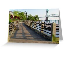 Waterfront In Wilmington, NC Greeting Card