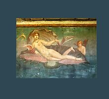 Naked Woman, Venus on Clamshell, Fresco, Pompeii by TOM HILL - Designer