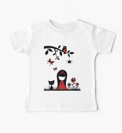Little Red Ribbon Head Baby Tee