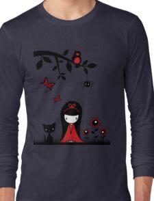Little Red Ribbon Head Long Sleeve T-Shirt