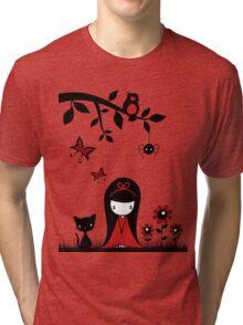 Little Red Ribbon Head Tri-blend T-Shirt