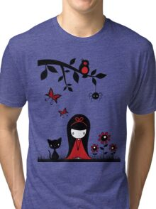 Little Red Ribbon Head Tri-blend T-Shirt