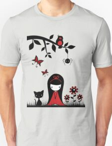 Little Red Ribbon Head T-Shirt