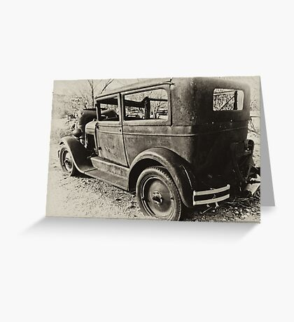 Antique Ford Greeting Card