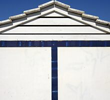 Close-up of Blue and White Beach Hut, Spain  by Petr Svarc