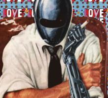 Retro-Robot Love Sticker