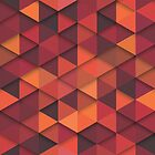 Abstract Cubes - Orange by Anaa