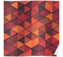 Abstract Cubes - Orange Poster