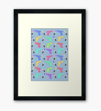 Lipstick and Guns Framed Print