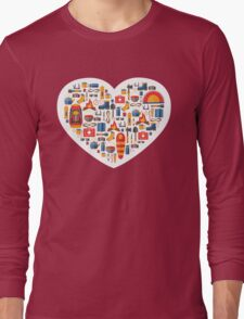 Hiking and tourism love Long Sleeve T-Shirt