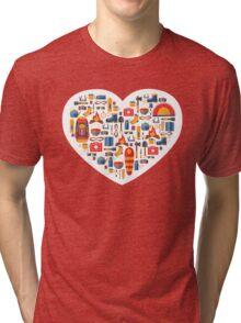 Hiking and tourism love Tri-blend T-Shirt