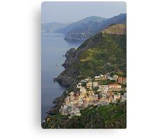 Riomaggiore and Cinque Terre National Park Canvas Print