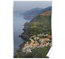 Riomaggiore and Cinque Terre National Park Poster