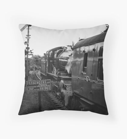 Waiting for the whistle and flag Throw Pillow