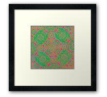 Iridium Atoms Green Pink Framed Print
