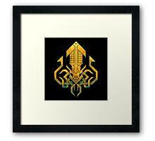 Golden Kraken Sigil Framed Print