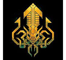 Golden Kraken Sigil Photographic Print