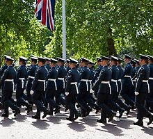 RAF marching in The Mall London by Keith Larby