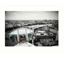 The Eye-Pod: London Eye. Southbank London. UK. Art Print