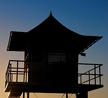 Currumbin Beach Lifeguard Tower by James Torrington