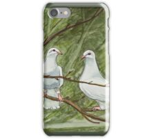 Two White Doves iPhone Case/Skin