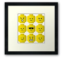 'Minifig Moods' Framed Print