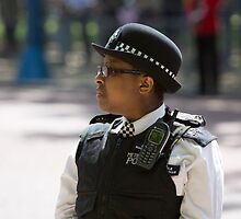 Police officer on duty during the State Opening Of Parliament London by Keith Larby