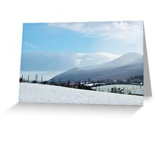 Snowy Mournes Greeting Card
