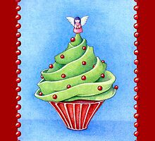 Christmas Tree Cupcake red by Mariana Musa