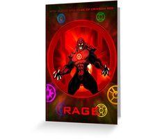 The Lantern Corps - Rage Greeting Card