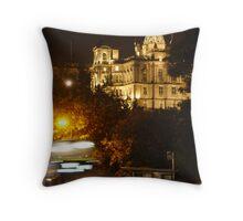 Edinbustle! (busy street, night in Scotland's capital) Throw Pillow
