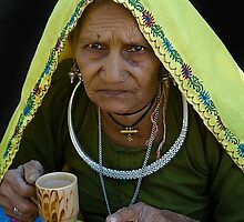 Lady in Traditional Rajasthani Dress by Mukesh Srivastava