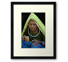 Lady in Traditional Rajasthani Dress Framed Print