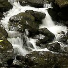 Water flow over the rocks by Phil Parkin