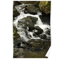 Water flow over the rocks Poster