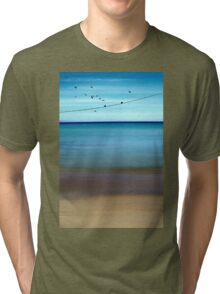 CRETAN SEA & BIRDS II Tri-blend T-Shirt