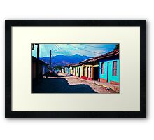 Colourful houses in Trinidad, Cuba Framed Print