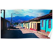 Colourful houses in Trinidad, Cuba Poster