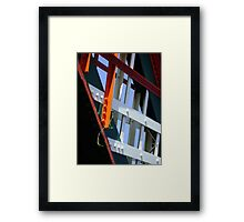 amid steel (plant and bridge-girders) Framed Print