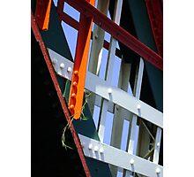 amid steel (plant and bridge-girders) Photographic Print