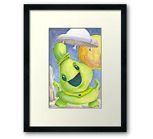 Cute Alien Framed Print